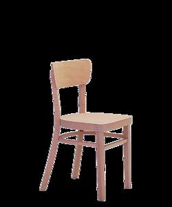 dřevěná bistro židle Nico, český výrobce židlí Sádlík, zakázková výroba dubových židlí, židle na míru