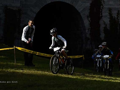 Fotografování cyklistiky<br />Jezernické viadukty MTB race 15. 10. 2016